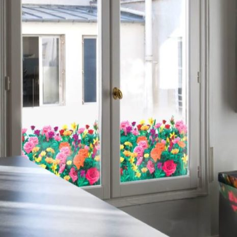 Raamfolie design decor DD 031 Roos - folie bloem