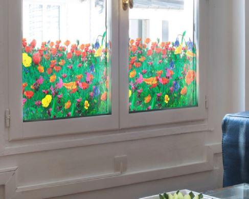 Raamfolie design decor DD 034 Rode papavers -folie bloem