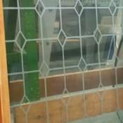Bloemenprints / glas in lood look (60cm)