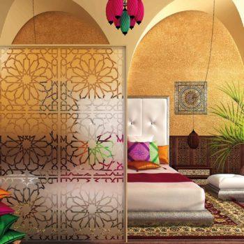 Raamfolie design decor DD 021 Arabia - folie bloem