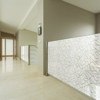 Raamfolie design decor DD 025  Kristal -folie scherven