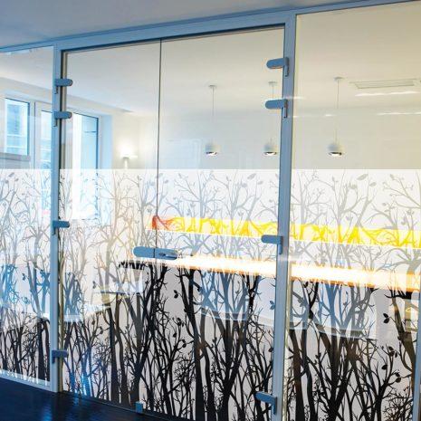 Raamfolie design decor DD 026 Bos - folie bomen