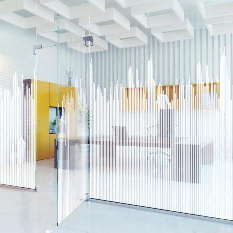 Raamfolie design decor DD 039 Decibel - folie strepen