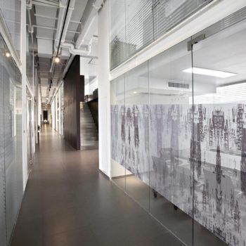 Raamfolie design decor DD 052 Stad - folie gebouwen